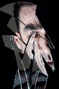 Miguel Sobreira MALE FACE REFLECTED IN BROKEN PIECES OF MIRROR Men