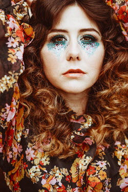 Shelley Richmond 1960S WOMAN WITH GLITTERY MAKE UP Women
