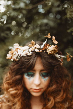 Shelley Richmond 1970S WOMAN WITH GARLAND AND GLITTERY MAKE UP Women