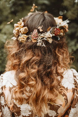 Shelley Richmond 1970S WOMAN WITH WILTED FLORAL HEADDRESS Women