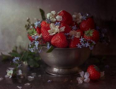 Andreeva Svoboda Strawberries and flowers in bowl