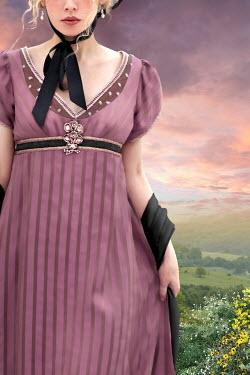 ILINA SIMEONOVA Young woman in pink dress at sunset