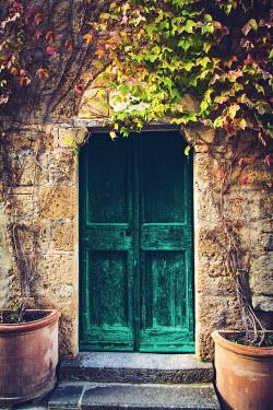Joanna Czogala Green door in San Quirco d'Orcia, Italy