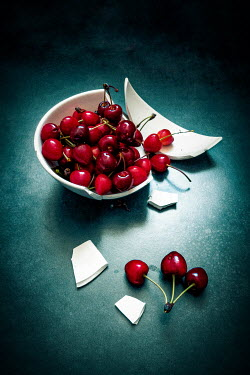 Jane Morley Cherries in broken bowl