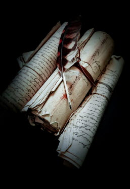 Jane Morley Bundle of scrolls with quill