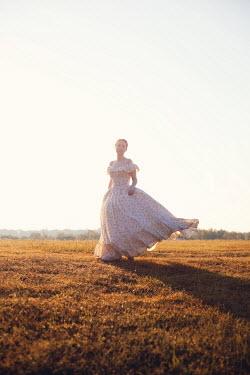 Susan Fox HISTORICAL WOMAN IN BREEZY SUMMERY COUNTRYSIDE Women