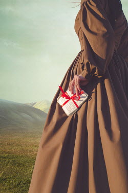 Joanna Czogala HISTORICAL WOMAN IN COUNTRYSIDE HOLDING LETTERS Women