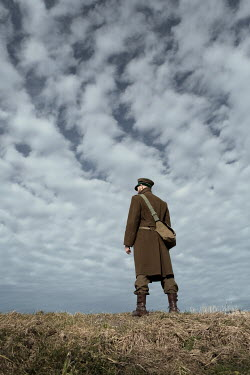 Magdalena Russocka soldier standing on hill