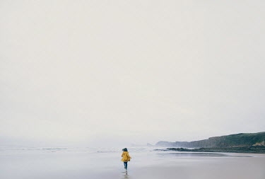 Alisa Andrei DISTANT WOMAN RUNNING ON MISTY BEACH Women