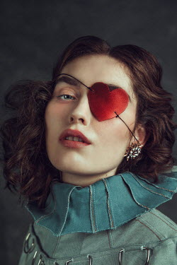 Alisa Andrei Young woman with heart shape eyepatch