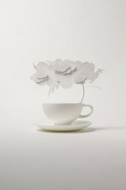 Catherine Macbride Tea cup with paper storm clouds