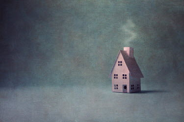 Catherine Macbride Paper house with smoke from chimney