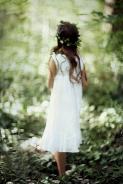 Nikaa Girl in white dress in forest