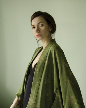 Virginia Ateh Young woman in green coat