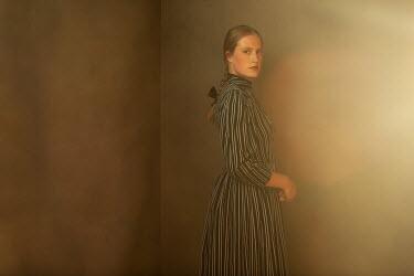 Ysbrand Cosijn Young woman in striped dress