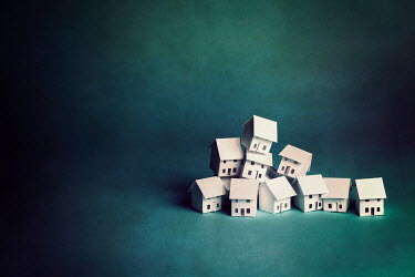Catherine Macbride Stack of paper houses