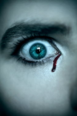 Miguel Sobreira Wide eyed woman crying blood