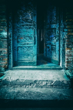 Jaroslaw Blaminsky OPEN WEATHERED DOOR WITH STONE STEP Building Detail