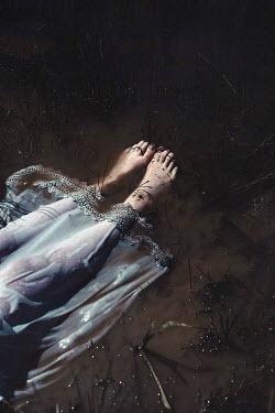 Shelley Richmond FEMALE FEET FLOATING IN MUDDY WATER Women