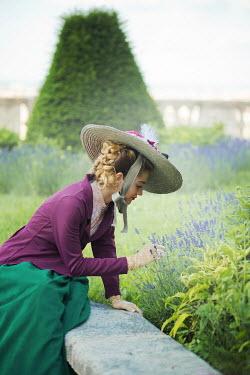 Ildiko Neer Victorian woman smelling lavender