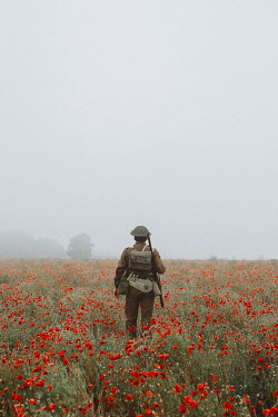 Shelley Richmond SOLDIER WITH RIFLE IN POPPY FIELD Men