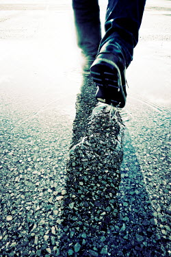Tim Robinson MALE FEET WALKING IN PUDDLE Men