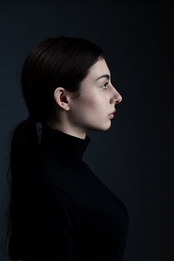 Magdalena Russocka close up of young woman in black jersey