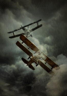 Jaroslaw Blaminsky TWO HISTORICAL PLANES FLYING IN STORM Miscellaneous Transport