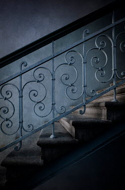 Jaroslaw Blaminsky ORNATE STAIRCASE IN SHADOW Stairs/Steps