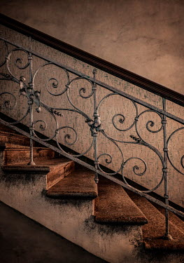 Jaroslaw Blaminsky OLD SHABBY ORNATE STAIRCASE Stairs/Steps