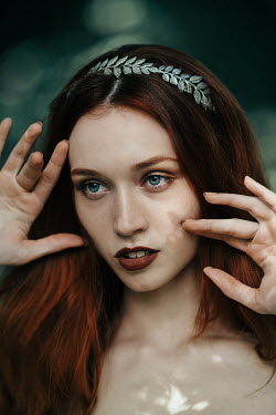 Jovana Rikalo WOMAN WITH RED HAIR AND SILVER HAIRBAND Women