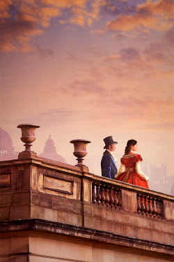 Lee Avison victorian couple watching the sunset