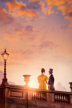 Lee Avison regency couple at sunset