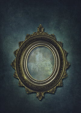 Elena Schweitzer EMPTY GOLDEN MIRROR WITH ORNATE FRAME Miscellaneous Objects