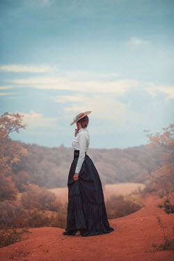 Ildiko Neer Historical woman standing countryside