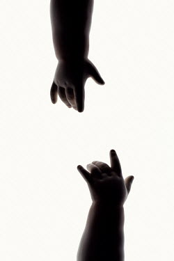 Amy Weiss TWO DOLLS HANDS IN SHADOW Miscellaneous Objects