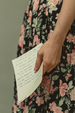 Shelley Richmond FEMALE HAND HOLDING LETTER WITH FLORAL DRESS Women
