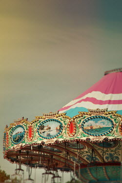 Lisa Bonowicz DECORATIVE RETRO MERRY-GO-ROUND Miscellaneous Objects