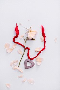 Magdalena Wasiczek HEART NECKLACE WITH SCATTERED ROSE PETALS Flowers