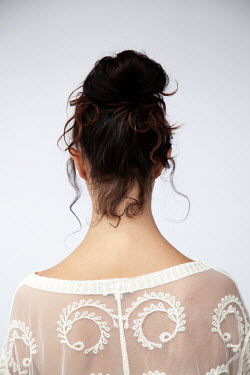 Miguel Sobreira BRUNETTE WOMAN IN LACEY TOP FROM BEHIND Women
