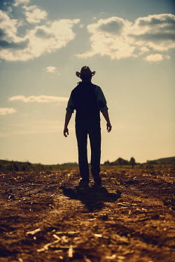 Magdalena Russocka cowboy walking in field