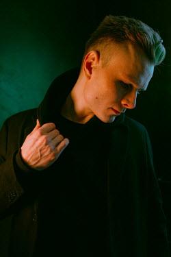 Daniil Kontorovich BLONDE MAN IN BLACK COAT Men