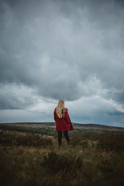 Shelley Richmond BLONDE WOMAN WALKING IN WINTRY COUNTRYSIDE Women