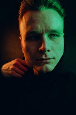 Daniil Kontorovich FACE OF BLONDE MAN IN SHADOW Men