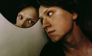 Daniil Kontorovich MALE FACE REFLECTED IN MIRROR Men