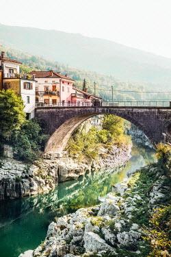 Evelina Kremsdorf Bridge over river in Kanal, Slovenia