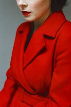 Shelley Richmond Young woman in red coat