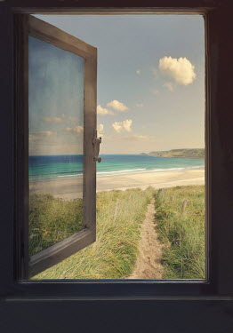 Lyn Randle Open window and beach
