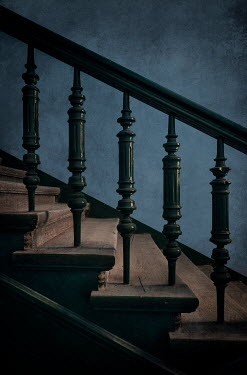 Jaroslaw Blaminsky OLD WOODEN STAIRCASE WITH BALUSTRADES Stairs/Steps
