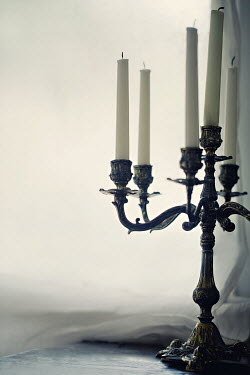 Jaime Brandel ANTIQUE SILVER CANDELABRA BY WINDOW Miscellaneous Objects